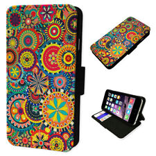 Aztec Spiro Pattern - Flip Phone Case Wallet Cover Fits Iphone 5 6 7 8 X 11