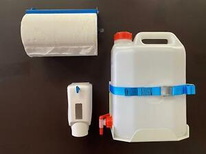 Hand Wash Station for Vans * Water Carrier inc Holder + Soap Disp + Paper Towel
