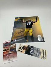 Brett Keisel Signed 8x10 Pittsburgh Steelers Terrible Towel JSA - Photo-Ticket
