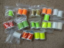 25 spools Rod Building Wrapping Gudebrod Prowrap Neon colored Threads