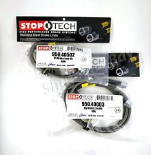 STOPTECH SS STAINLESS STEEL FRONT + REAR BRAKE LINE KIT FOR 02-06 ACURA RSX