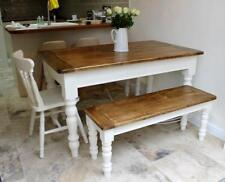 Victorian Pine Farmhouse Dining Table and Chairs Made to Order (Colour sample)