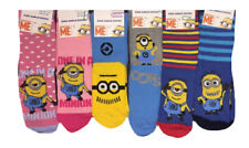 New Kids Boys/girls Despicable Me Minions Novelty Stripe Single Pair Ankle Socks