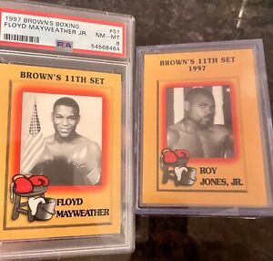 1997 Browns Boxing Floyd Mayweather Jr Rookie Card  RC #51 AND COMPLETE SET PSA