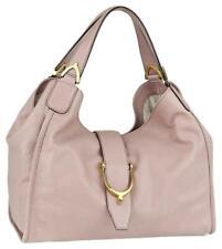 Gucci Pink Leather Brocade Stirrup Hobo 867302