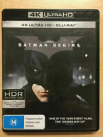 Batman Begins BD 4K UHD (BLU-RAY)-Brand New-Still Sealed (Christian Bale)