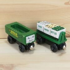 RECYCLING CARS - THOMAS & FRIENDS WOODEN TRAIN CARS - 2002 LEARNING CURVE