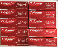 LOT OF 10-COLGATE Optic White Stain Fighter  4.2oz/tube Clean Mint EXP 07/2021+