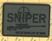 PVC SNIPER VELCRO patch out of sight out of mind Morale Military gun ARMY cross