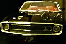 1/18 SCALE 1969 SHELBY MUSTANG CONV -BLACK EXTERIOR WITH RED INTERIOR BY ERTL