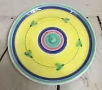 """CALECA Italy X Large 12.5"""" Pottery Serving Charger Plate Platter Carousel EUC"""