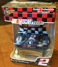 WINNERS CIRCLE 2003 COLLECTIBLE ORNAMENT RUSTY WALLACE #2 CAR -NIB
