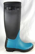Hunter Original Tall Ribbled Leg Black Peacock Wellington Rain Boots