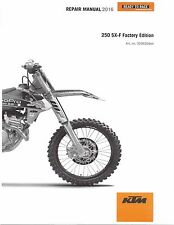 KTM Service Workshop Shop Repair Manual Book 2016 250 SX-F Factory Edition