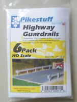 6 Pack HO Highway Guard Rail Kit HO 1:87 SCALE LAYOUT DIORAMA Pikestuff 13