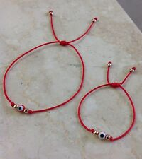 Mother and Baby Red Evil Eye Red String Bracelet Set of Two 2 Amulet Talisman