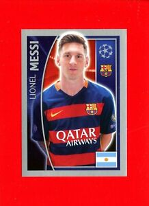 CHAMPIONS LEAGUE 2015-16 Topps -Figurine-stickers n. 317 - MESSI -BARCELONA-New