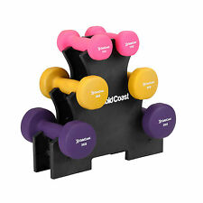 Gold Coast 12kg Dumbbell Weight Training Gym Fitness Exercise Workout Stand Set