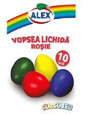 5 Buste Colorante per uova di pasqua rosso Alex Vopsea rosu