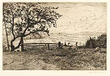 HANS RICHARD DI VOLKMANN - Willingshausen - Acquaforte 1910