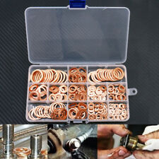 280pcs 12 Sizes Assorted Solid Crush Copper Washer Sump Plug Banjo Bolt Tap Box