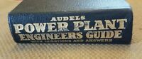 1945 Audels Power Plant Engineers Guide by Frank Graham VTG Leathereette NICE