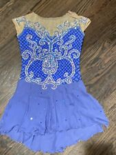 Beautiful Tania Bass Ladies Xs Periwinkle Blue Custom Ice Figure Skating Dress