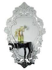 XXL ovale design baroque Miroir mural cristal en verre 120x80cm télévision Woe