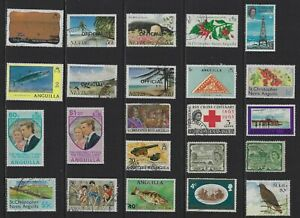 H 253 St Kitts Nevis & Anguilla / A Small Collection Early & Modern Umm Lhm Used