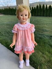 Vintage Pink Velvet Party Dress for Playpal, Penny, Saucy Walker Doll 1950 Ideal