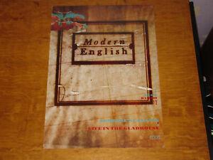 MODERN ENGLISH - SOMEONE'S CALLING - ORIGINAL UK 4AD PROMO POSTER
