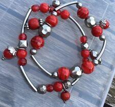 charm bracelets Multilayer red