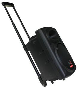 E-Lektron EL25-M 500W mobile PA Soundanlage Akku-MP3-USB-BT Mikrofon Rollkoffer
