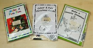 3 Childrens Christmas Craft Class Packs - Pom Poms / Snazzy Snowmen / Cards