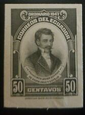 O) 1947 ECUADOR, DIE PROOF,PROCEEDING FROM INDEPENDENCE,DOCTOR,INVESTIGATOR FRAN