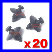 PLASTIC RIVET FASTENER CLIPS BUMPERS WHEEL ARCH TRIM LINER LINING x20 FOR NISSAN