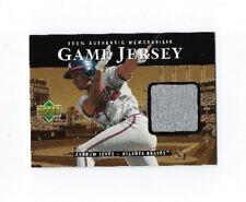 2000 UPPER DECK ANDRUW JONES GAME JERSEY INSERT #C-AJ USED WORN NM BASEBALL CARD