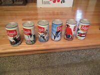 6 piece lot Schmidt Steel Vintage Beer Can 4 city