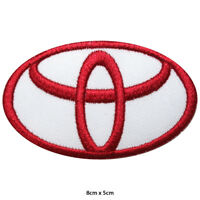 Toyota Car Brand Embroidered Patch Iron on Sew On Badge For Clothes Bags etc