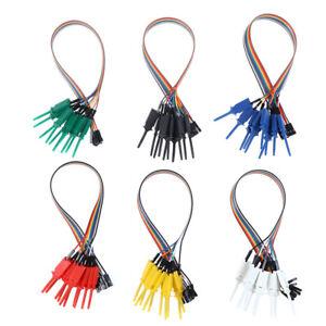 10pcs 300mm Test Hook Clip Logic Analyzer Cable Gripper Probe Test Cl,dy