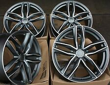"18"" ALLOY WHEELS FITS AUDI A3 A4 A6 Q3 Q5 TT VW SCIROCCO GOLF EOS TIGUAN RS 6C G"