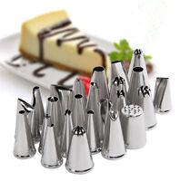 24Pcs Icing Piping Tips Nozzles Pastry Cake Sugarcraft Decorating Baking Tools