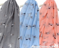 Ladies French Bulldog Scarf Sarong SEE COLOUR OPTIONS cotton mix Frenchie lover