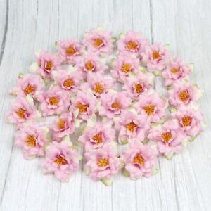 """6/120Pcs Artificial 2"""" Silk Rose bud Flower Heads Bulk Craft Wedding Decor Pink"""