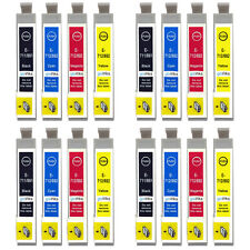 16 Ink Cartridges (Set) for Epson Stylus BX3450, DX4000, DX4050, DX7400, SX200