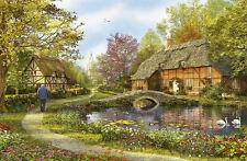 Puzzle casitas en el país, piezas 5000, Dominic Davison, naturaleza, flora, educa