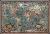 Historical World Map - Chart Counted Cross Stitch Patterns Needlework DIY DMC