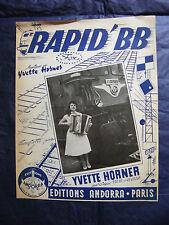 Partition Rapid'BB Yvette Horner SNCF Locomotive 1960 Music Sheet
