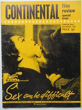 Continental Film Review 12/1963, Francoise Truffaut, Alain Delon, Greta Garbo,