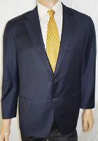 44R Hickey Freeman Beacon Blazer - Men 44 Navy Loro Piana 150s Wool Suit Jacket